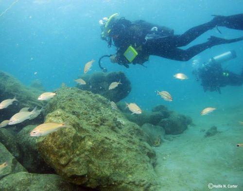 The underwater wreck!